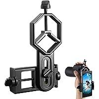 Support Adaptateur pour Smartphone pour Lunette de visée - Compatible avec Les télescopes et microscopes monoculaires monoculaires - pour Iphone Sony Samsung Moto Etc (Big Type)