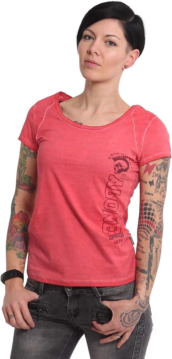 YAKUZA Damen Bad Company Racerback Dye T-Shirt GSB-16118 Grau
