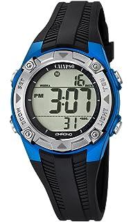 Calypso - Reloj Digital Unisex, con Pantalla LCD Digital y Correa de plástico, Color