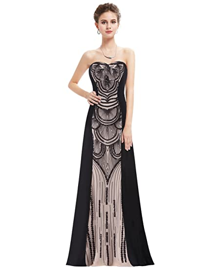 Ever Pretty Womens Floor Length Strapless Printed Long Adjustable