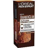L'Oréal Paris Men Expert Barber Club Olio Disciplinante Idratante per Viso e Barba Lunga senza Siliconi, senza Parabeni e Coloranti, 30 ml