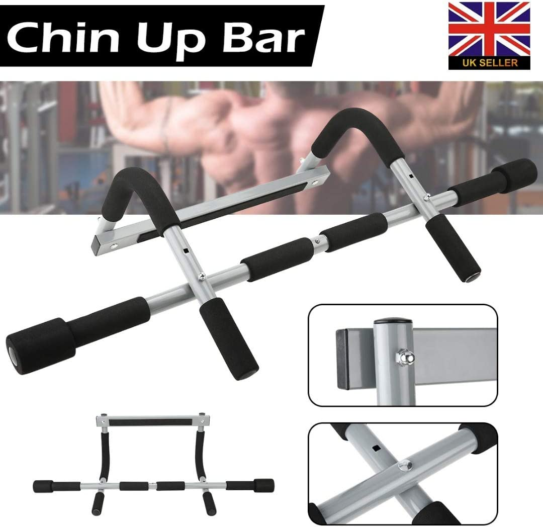Portable Chin Up Workout Bar Door Abs Exercise Doorway Wall Fitness Pull Up Bars