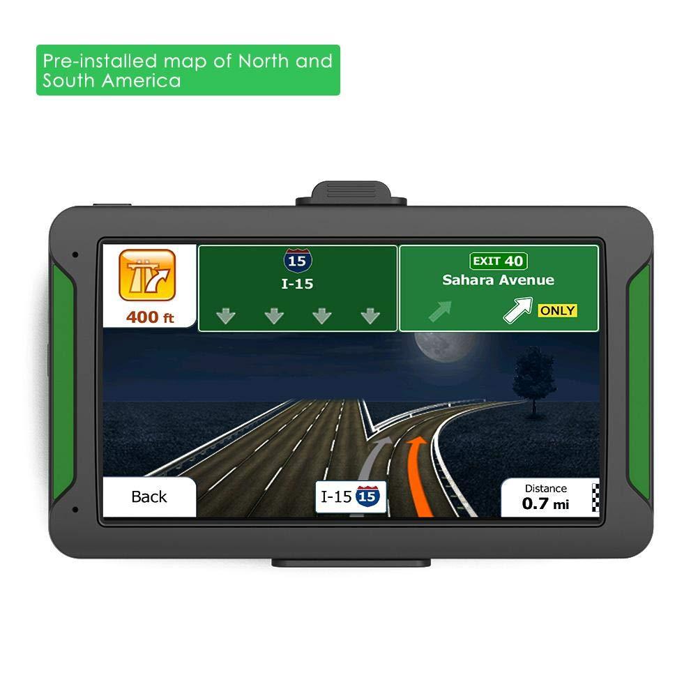 Ingeniously Système de Navigation GPS HD de 7 Pouces avec Cartes à Vie, écran TFT-LCD, Instructions Tour par Tour parlées Alertes Relatives aux conducteurs avec accès Direct