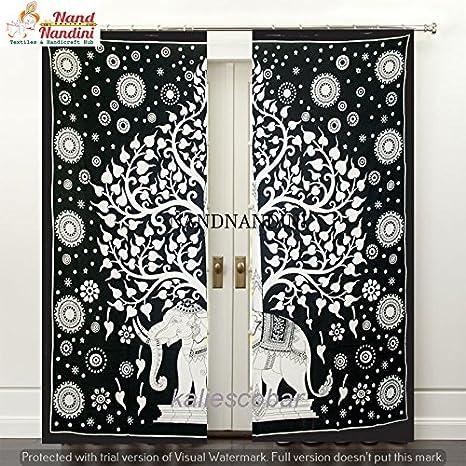 nandnandini textil – algodón decorativa, diseño de árbol de la ...