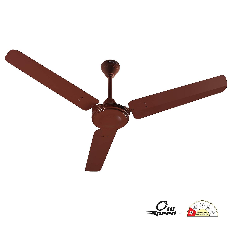 Crompton HS Plus 48-inch Power Saver High Speed Ceiling Fan (Brown)