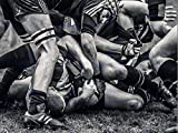 PHOTO SPORT RUGBY FOOTBALL CLOSE UP SCRUM PLAYERS