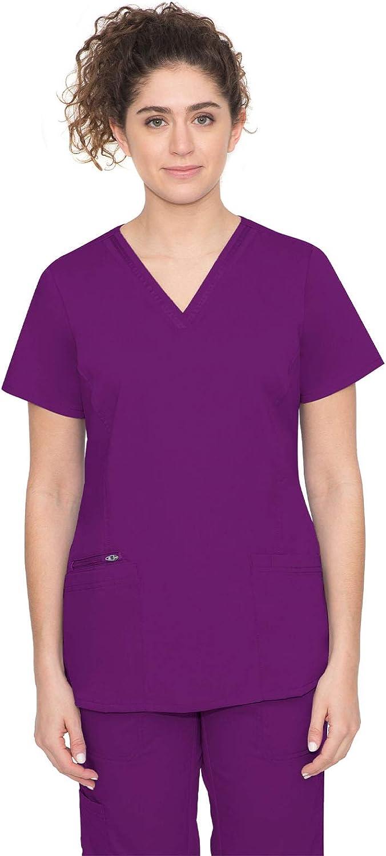 healing hands Purple Label Women's Jasmin Top –Three Pocket V-Neck Scrub Top