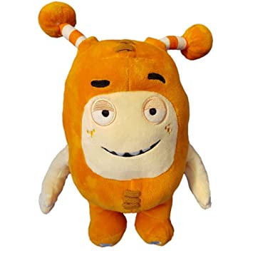 Oddbods Large 30cm Plush Soft Cuddly Toy Newt Bubbles Pogo Zee Jeff Fuse Slick (Orange
