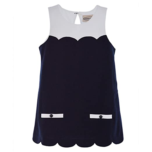 2a9c77ea3f0 Boutique Collection Baby Girl Vintage Inspired Sleeveless Dress - Navy Blue