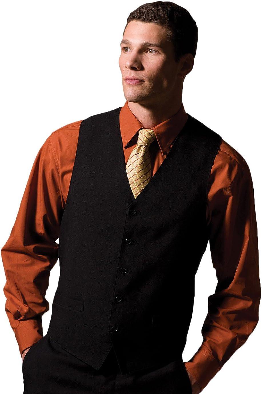 Edwards Garment Mens V-Neck Tuxedo Vest