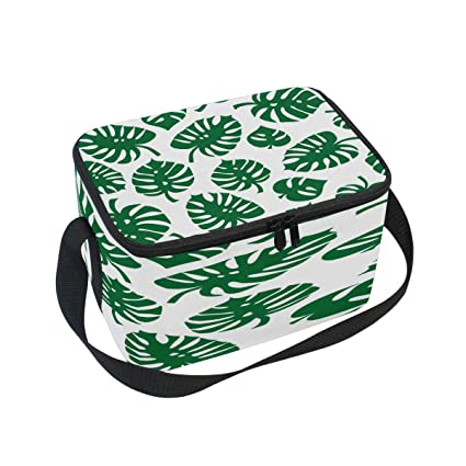 74bbd085f2f8 Amazon.com: Use4 Monstera Leaf Palm Tree Insulated Lunch Bag Tote ...