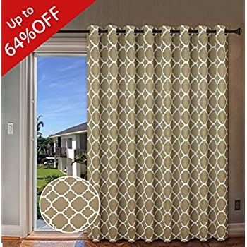H.Versailtex Beautiful Quatrefoil Pattern Thermal Insulated Blackout Patio  Curtains, Antique Grommet Decorative Sliding
