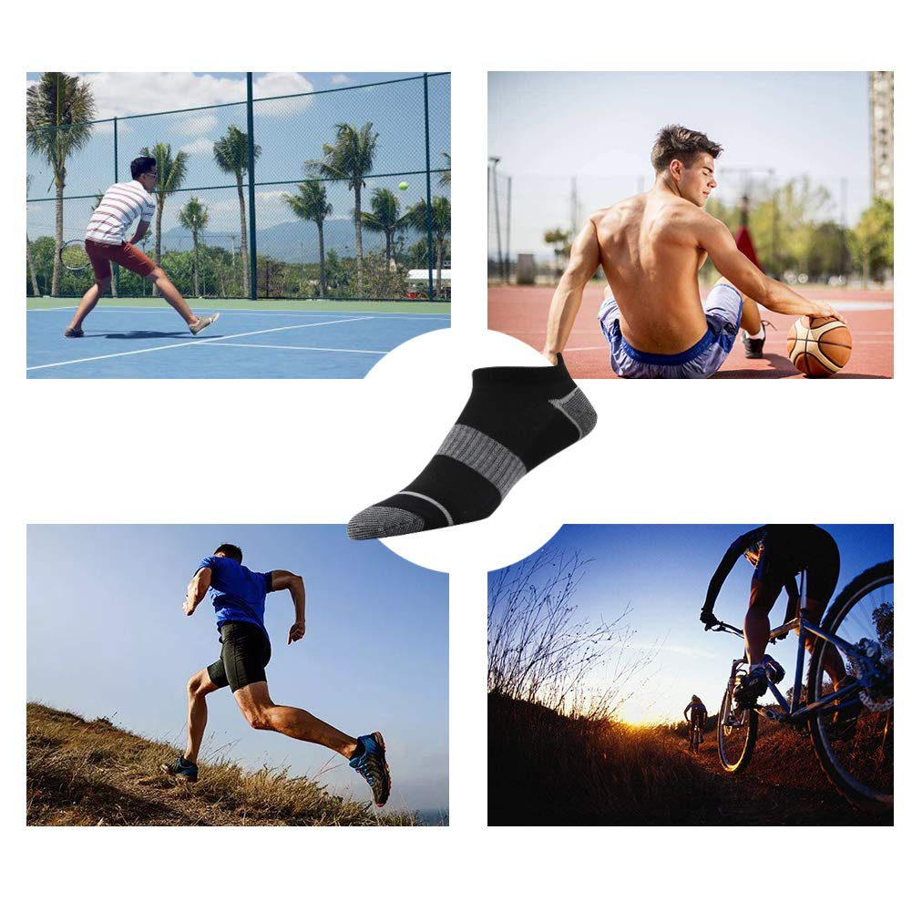 SOXART 10-Pack No Show Athletic Socks For Men /& Women Ankle Lightweight Thin Arch Support Low Cut