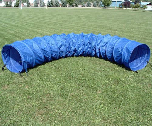 15 ft Practice Fabric Tunnel w/24'' diameter and Carry Bag by Affordable Agility