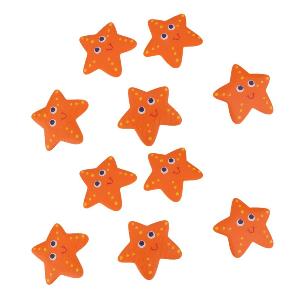 Homyl 40pcs Bath Tub Non Slip Safety Treads Sticker Bathroom Stick-on Applique Starfish