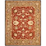 Safavieh Anatolia Collection AN512G Handmade Traditional Oriental Rust and Green Premium Wool Area Rug (8′ x 10′) For Sale