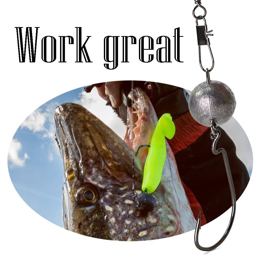 Croch 4-18 g Juego de 25 Bolas de Plomo para Pesca de Peces de Goma