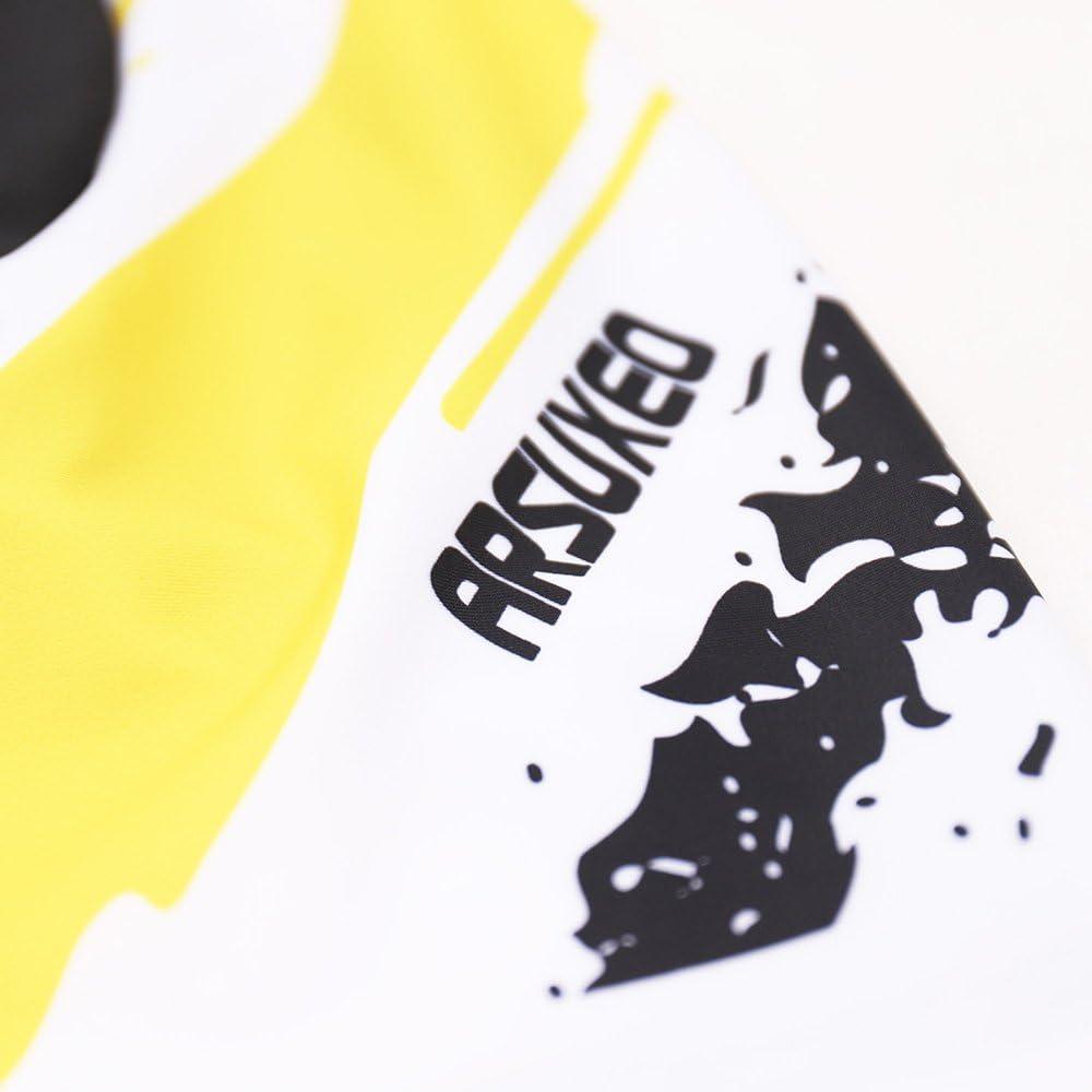 ARSUXEO Mens Cycling Jersey Short Sleeves Mountain Bike Shirt MTB Top Zipper Pockets Reflective