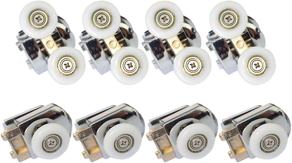Clarmonde 8 piezas puertas correderas de ducha de 23 mm, rueda ...