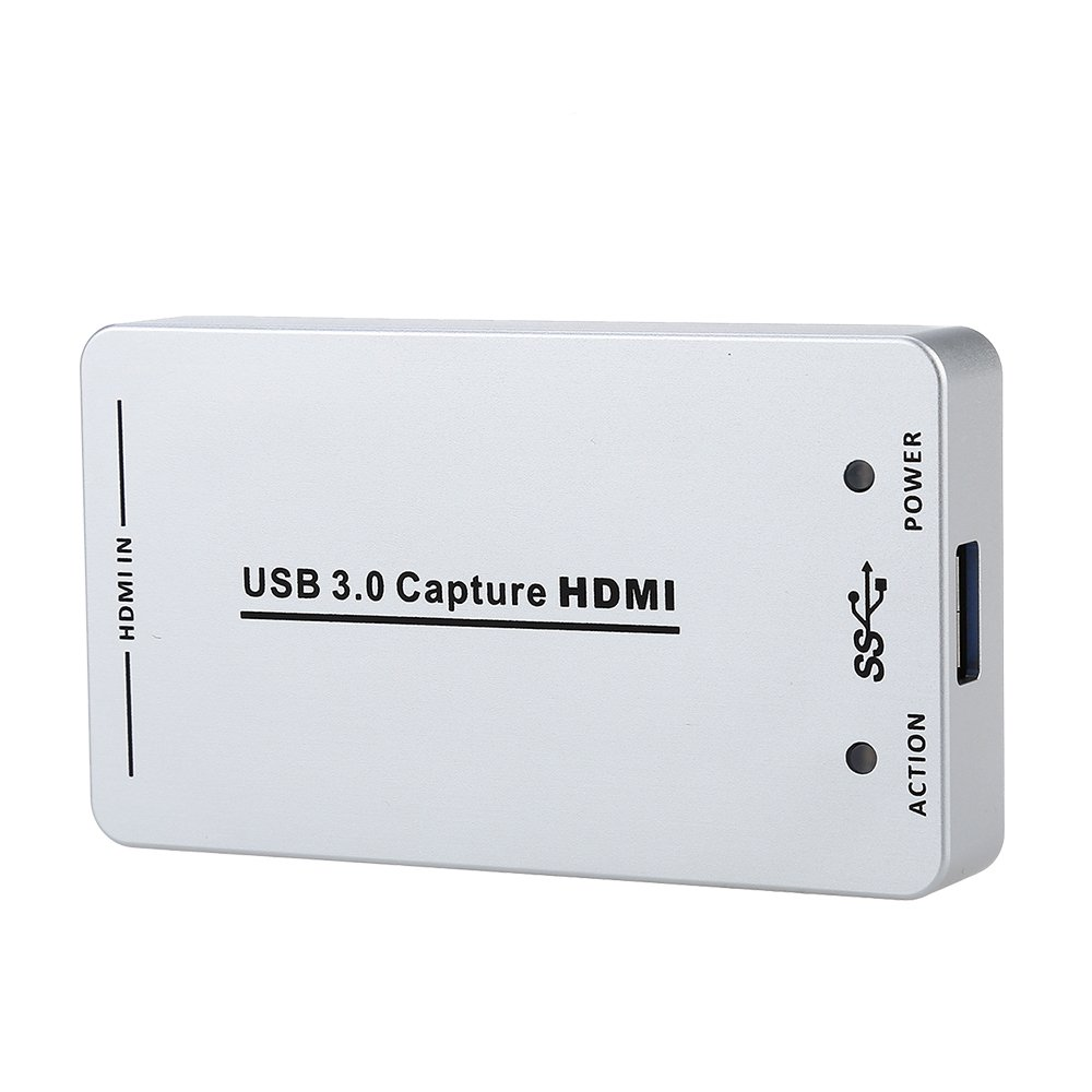 Seesii HDV-UH60 HDMI to USB3.0/2.0 Video Capture Dongle 1080P 60FPS Capture Box for Windows, Linux, OS X Systerm
