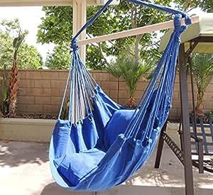 Amazon.com: Hammock Chair Hanging Rope Chair Porch Swing ...