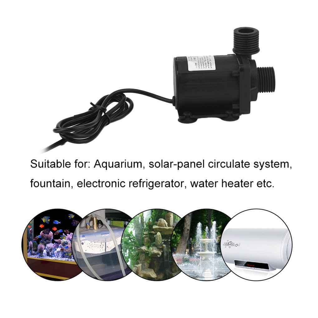 DC 6-24V 3.8M Magnetic Electric Centrifugal Water Pump for Aquarium Fish Tank IP68 Waterproof MuLuo