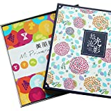 Laminating stickers / baby growth album 200 / couple creative home DIY hand gift albums 1-10 inch can be posted ( Color : B )