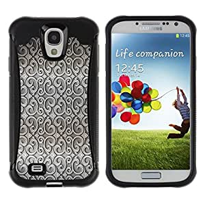 "Pulsar iFace Series Tpu silicona Carcasa Funda Case para Samsung Galaxy S4 IV I9500 , Wallpaper Diseño Interior Gris Wallpaper"""