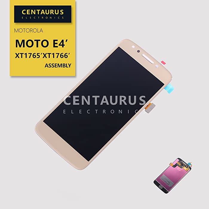 Replacement for Motorola Moto E4 XT1765 XT1766 Assembly LCD Display Touch Screen Digitizer Part (Gold-NO Home Button)