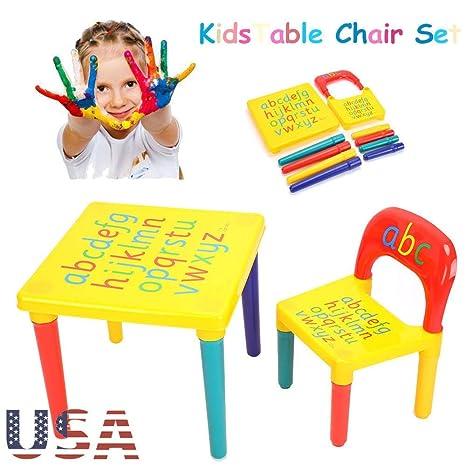 Juego de mesa y silla multifunción para niños, mesa de juegos para ...