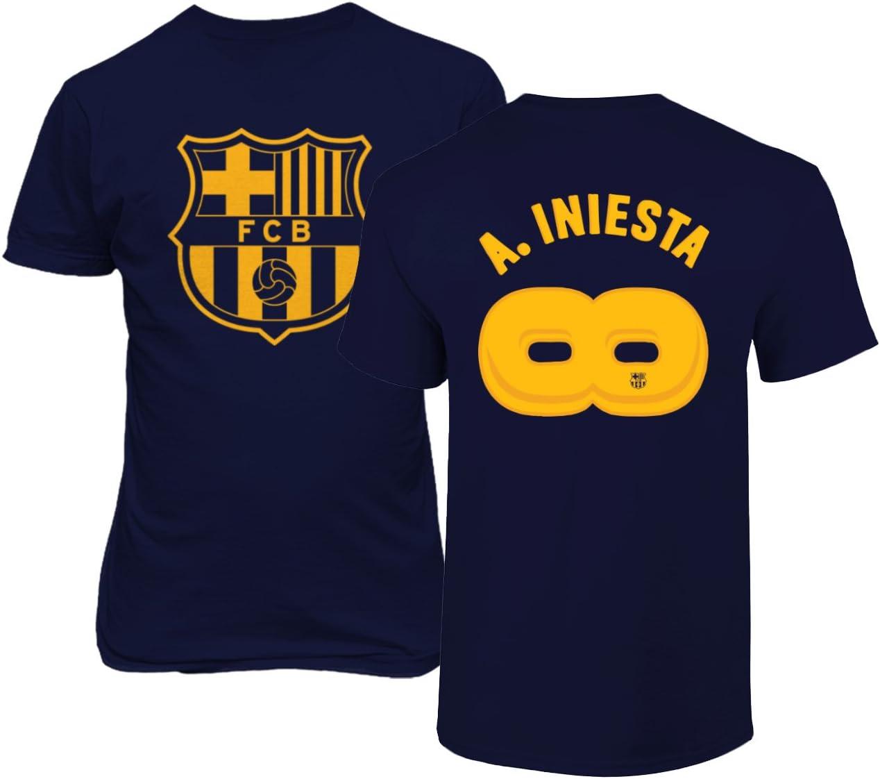 BTA Apparel Fútbol Barcelona Andrés Iniesta #8 Infinity Retirement Shirt Style - Camiseta para Hombre, Juventud M, Marino: Amazon.es: Deportes y aire libre