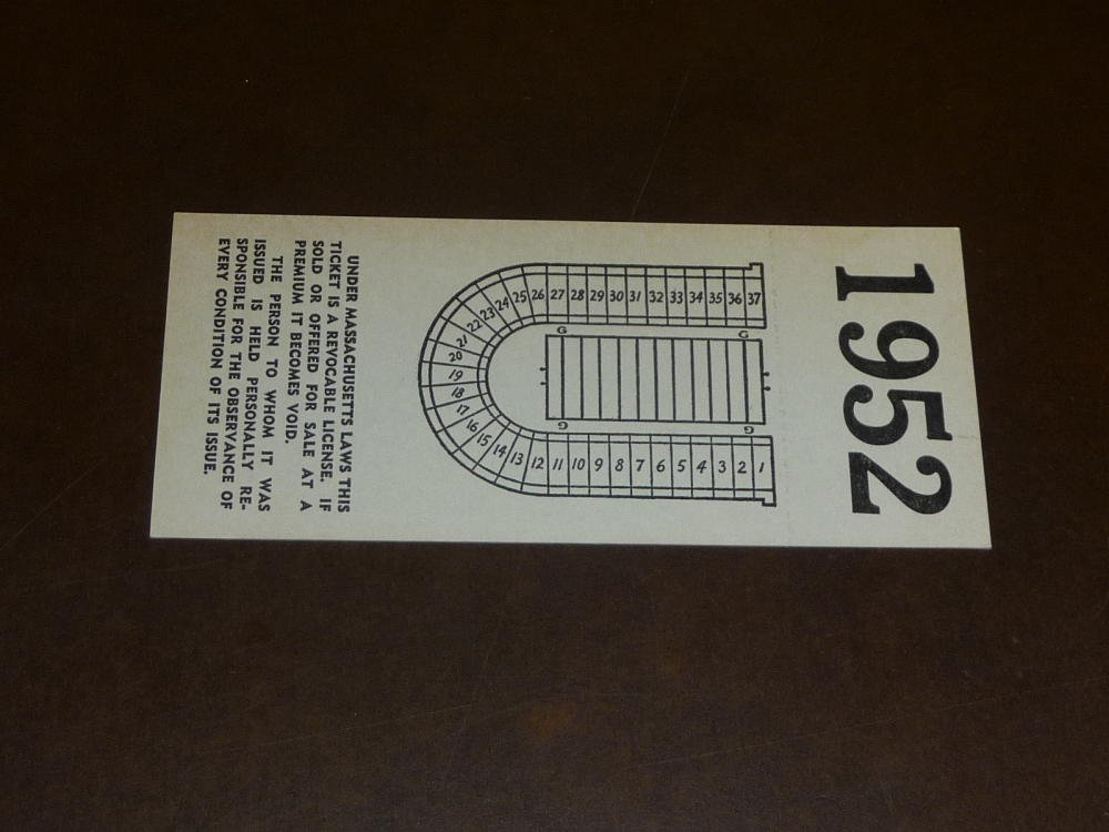 1952 DARTMOUTH AT HARVARD COLLEGE FOOTBALL FULL TICKET NEAR MINT