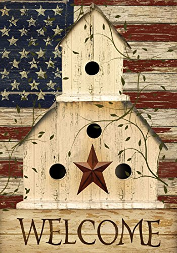 Briarwood Lane Americana Welcome House Flag Primitive Patriotic 28