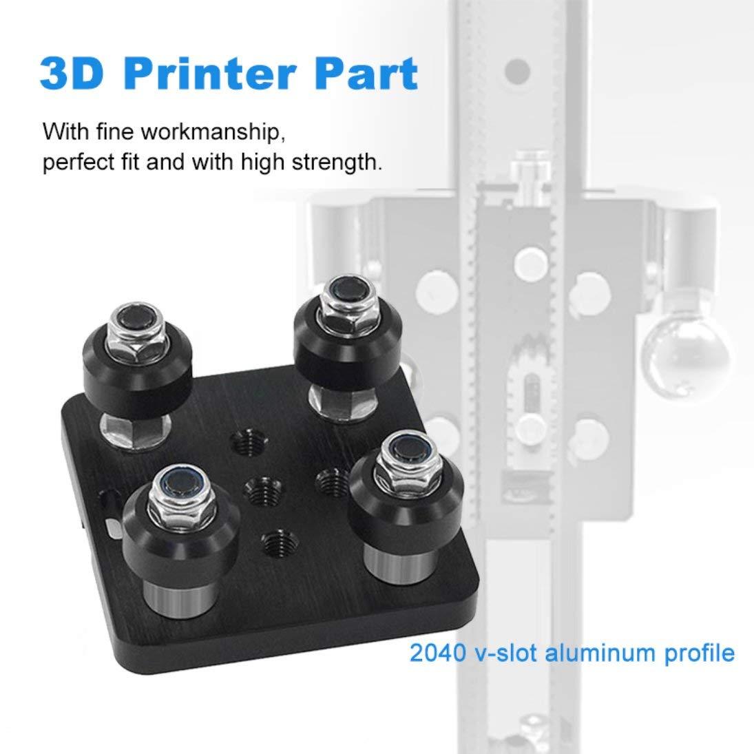WEIHAN Openbuilds V Gantry Plat Set 3D Printer Part V Linear Actuator System Slide Plate For 2040 V-slot Aluminum Profile Black