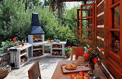Outdoorküche Tür Xxl : Wellfire toskana quatro grillkamin außenküche: wellfire: amazon.de