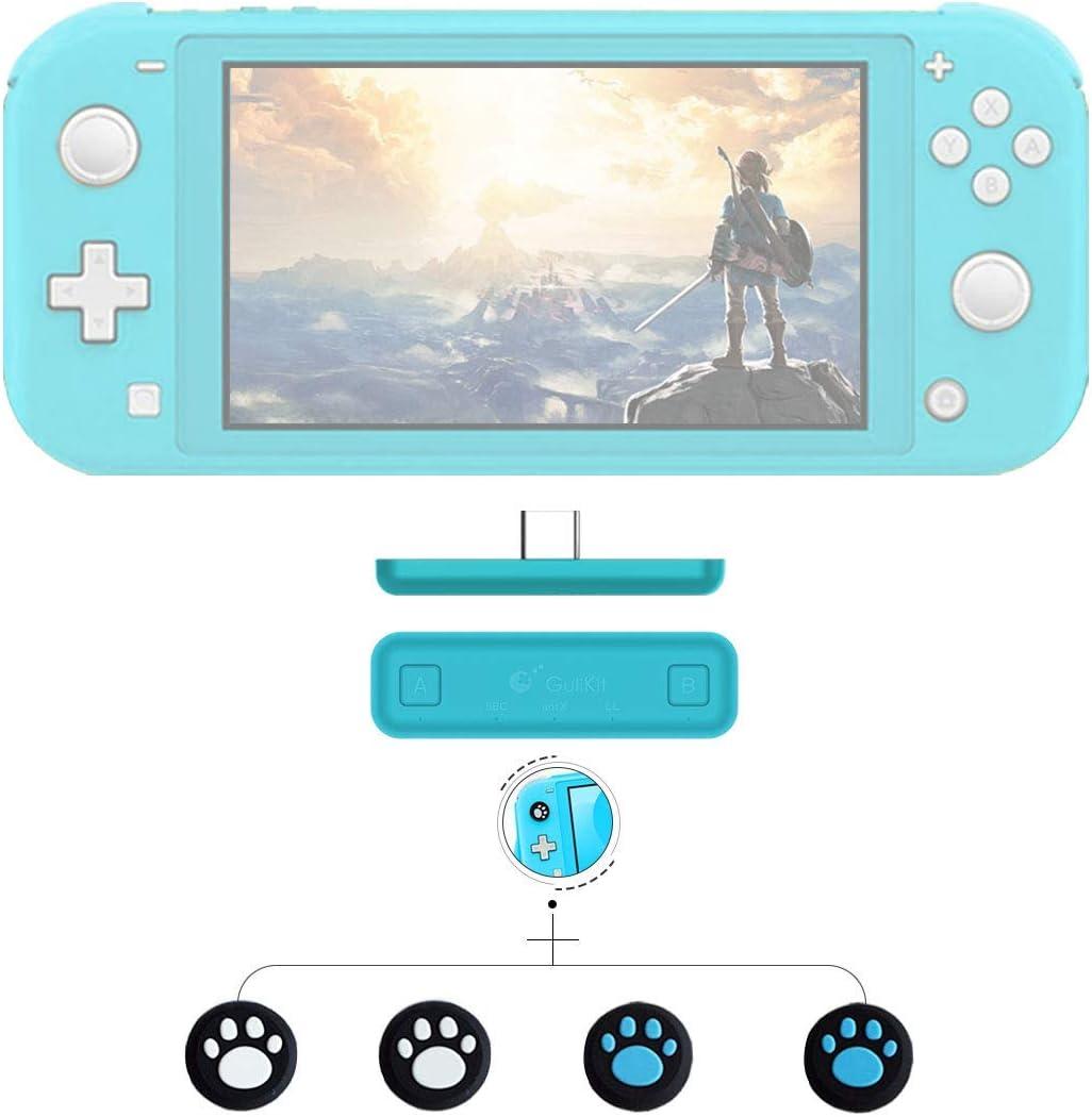 GULIkit Adaptador Bluetooth para el transmisor de Audio inalámbrico airpods Nintendo Nintendo Interruptor/Switch Lite ps4 pc - Turquesa