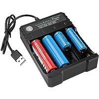 18650 - Cargador de batería de 4 bahías 5 V 2 A para baterías recargables de 3,7 V Li-ion TR IMR 18650 14500 16340…