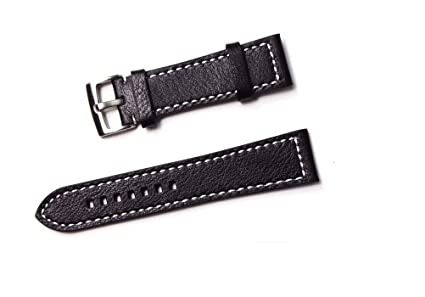 b0fae1fe3de Image Unavailable. Image not available for. Color  23mm 24mm Genuine  Leather Watch Strap ...