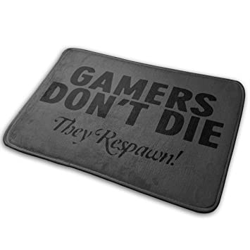 Amazon Com Gamers Don T Die They Respawn Bathroom Rugs Indoor