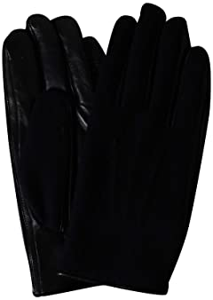 Flannel Sheep Leather Gloves 1337-699-1032: Navy