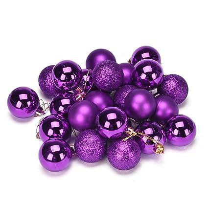 Amazon Mitsutomi Christmas Ball Ornaments Shatterproof Inspiration Purple Decorative Balls