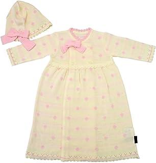 04eae12d149c8 アンナニコラ UVカット サマーニット 新生児ドレスセット 50-70cm オフ AN-35