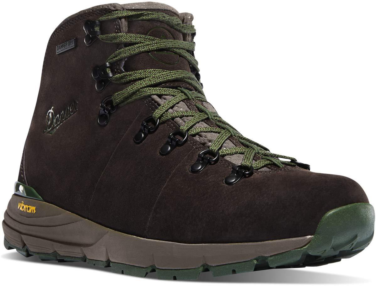 Danner Men's Mountain 600 4.5'' Hiking Boot, Dark Brown/Green-Suede, 12 D US by Danner