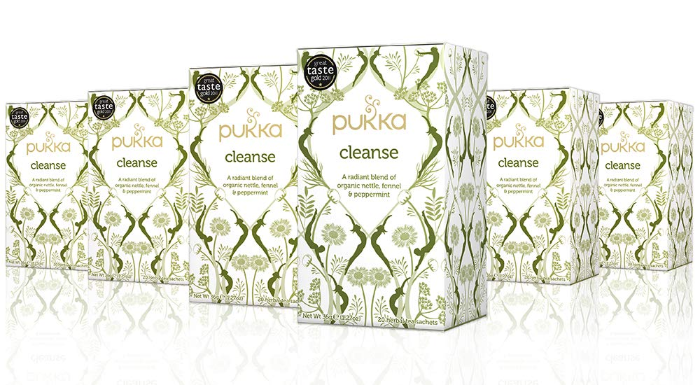 Pukka Cleanse, Organic Herbal Tea with Fennel & Peppermint (6 Pack, 120 Tea Bags)