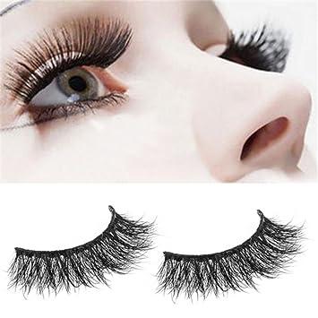 cd58c2cb9b1 Amazon.com : LtrottedJ 1 Pair Crisscross 3D False Eyelashes ,Long Thick  Natural Fake Eye Lashes : Beauty