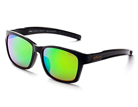 b2ceb7853cd Image Unavailable. Image not available for. Color  Revo Albatross 6008-01  GF GN Shiny Black   Green Water Sunglasses