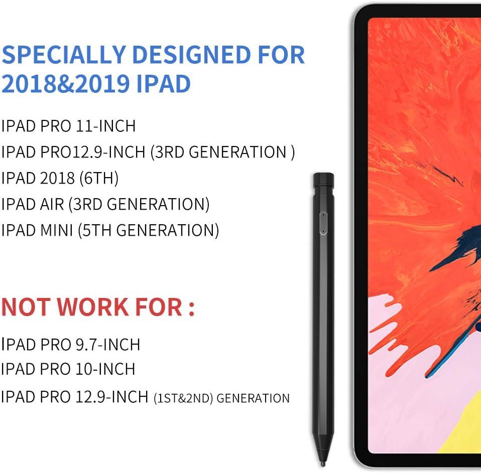 iPad 2018 6th iPad Pro12.9-inch AWINNER Active Pen,Stylus Pen Compatible with iPad Pro 11-inch -Black 5th Generation iPad Mini 3rd Generation 3rd iPad Air