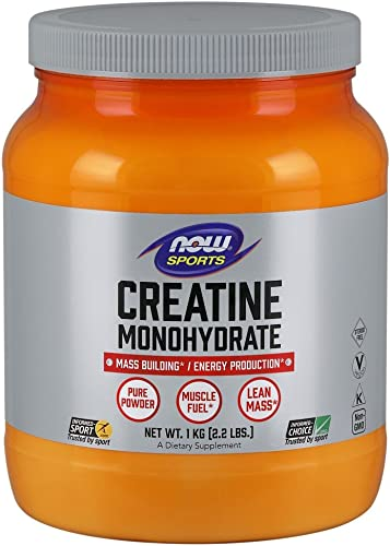 NOW Sports Nutrition, Creatine Monohydrate Powder, Mass Building* Energy Production*, 2.2-Pound
