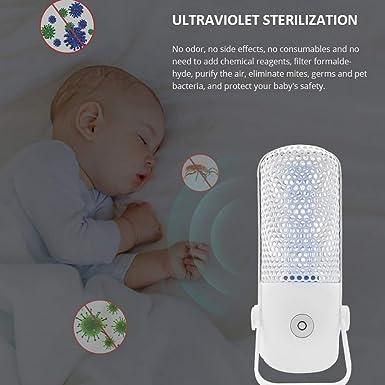 Ultraviolette Keimt/ötende Lampe Desinfektionslampe tragbar UV Home Travel Sterilisationslampe antibakteriell UV Luftreiniger UV-C Mobiler Raum-Sterilisator wei/ß
