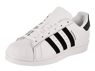 adidas Originals Kids Unisex Superstar Velvet (Big Kid) White/Black 4 M US